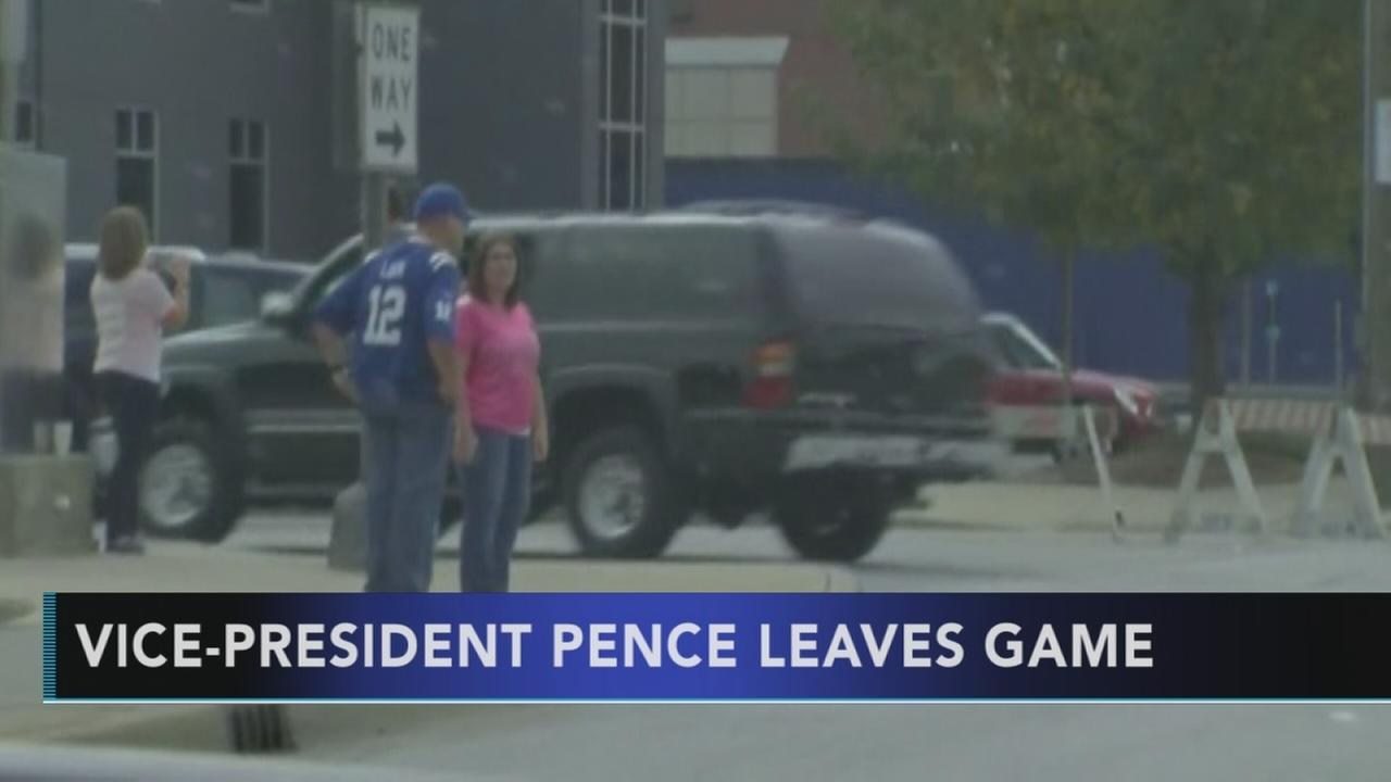 Vice President Pence leaves NFL game after players kneel: Walter Perez reports on Action News at 5 p.m., October 8, 2017