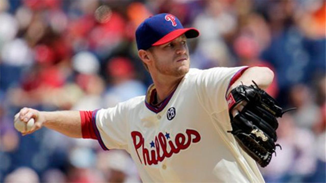 Philadelphia Phillies starting pitcher Kyle Kendrick throws against the New York Mets on Sunday, Aug. 10, 2014, in Philadelphia.