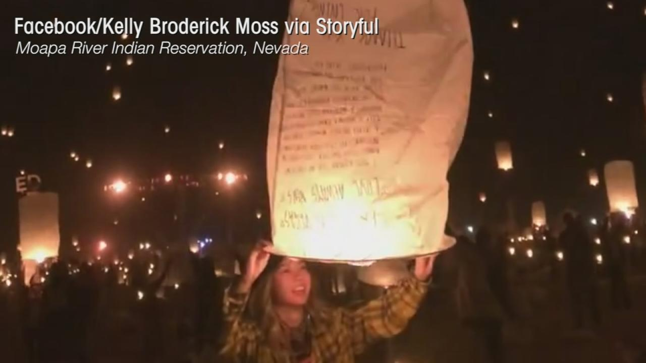 VIDEO: Lantern fest honors Las Vegas victims