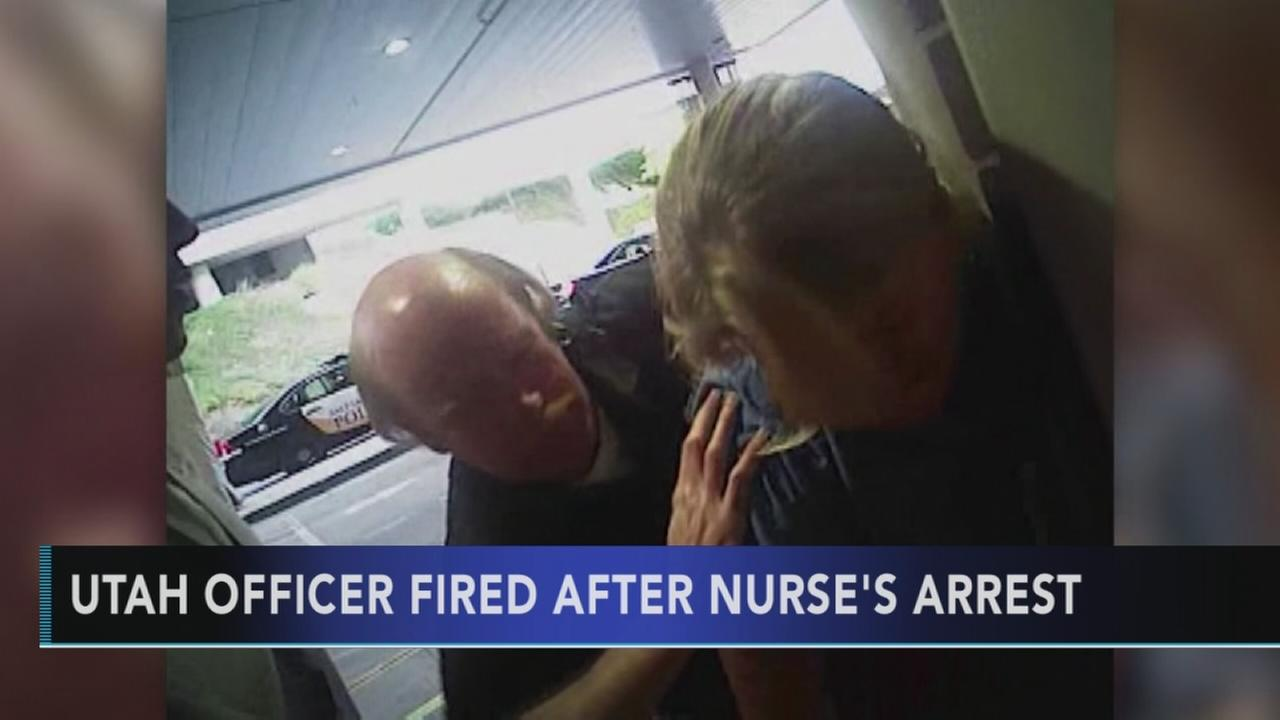 Utah officer fired after nurses arrest