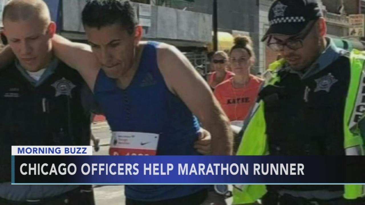 Chicago officers help marathon runner