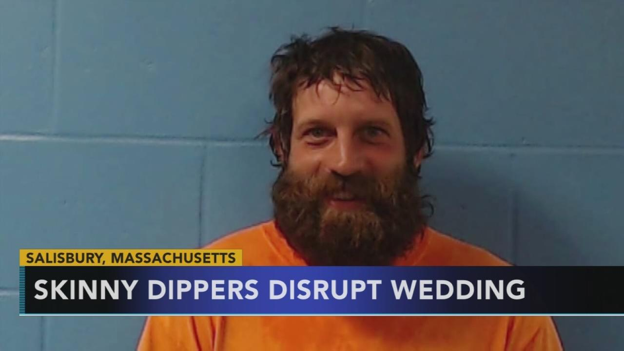 Skinny dippers disrupt wedding