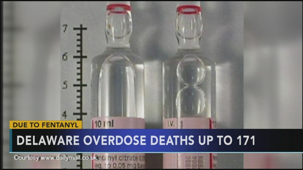 Drug overdoses up in Delaware