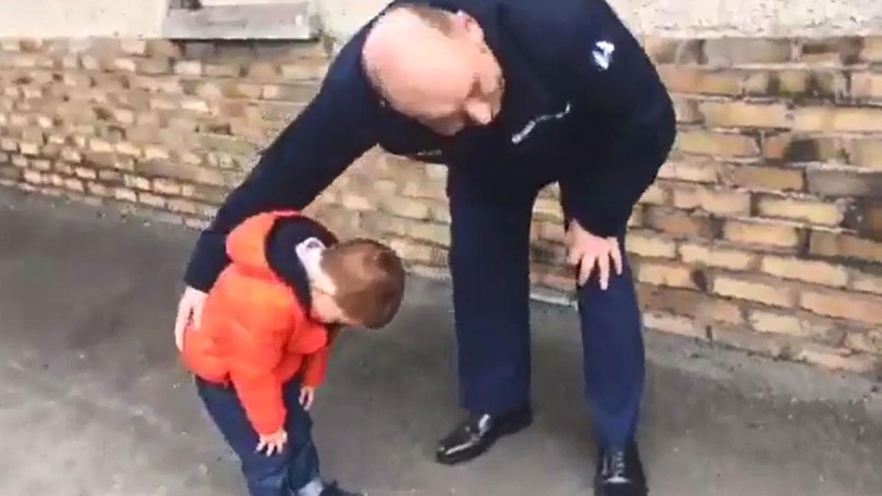 VIDEO: Boy breaks down