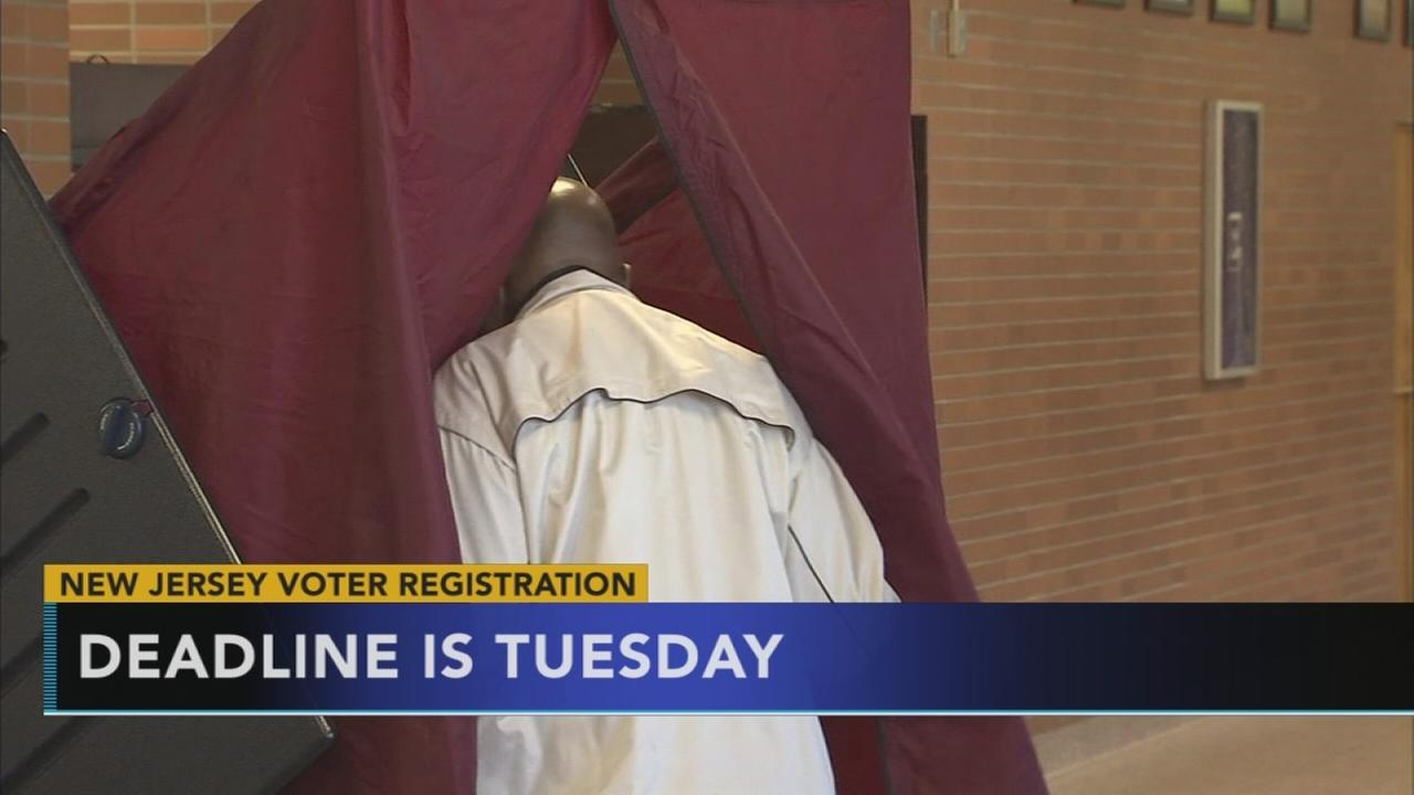 VIDEO: New Jersey voter registration deadline is Tuesday