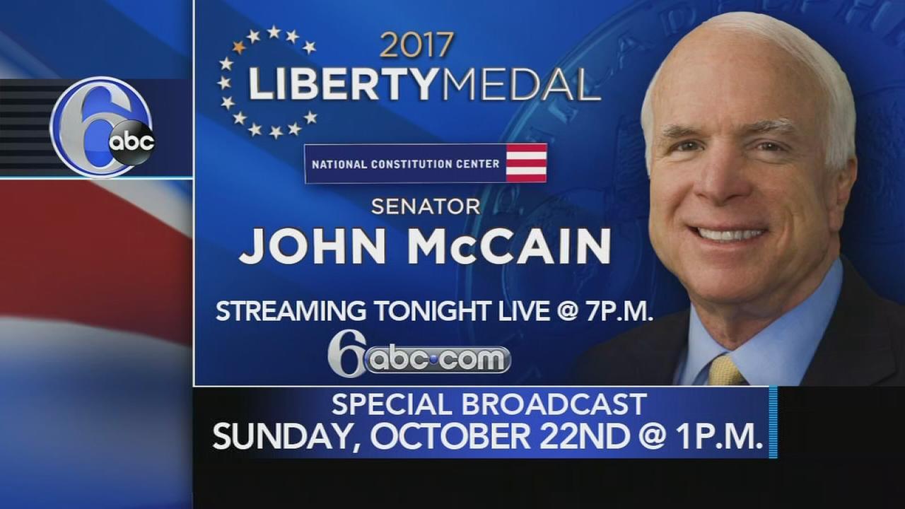 John McCain to receive Liberty Medal