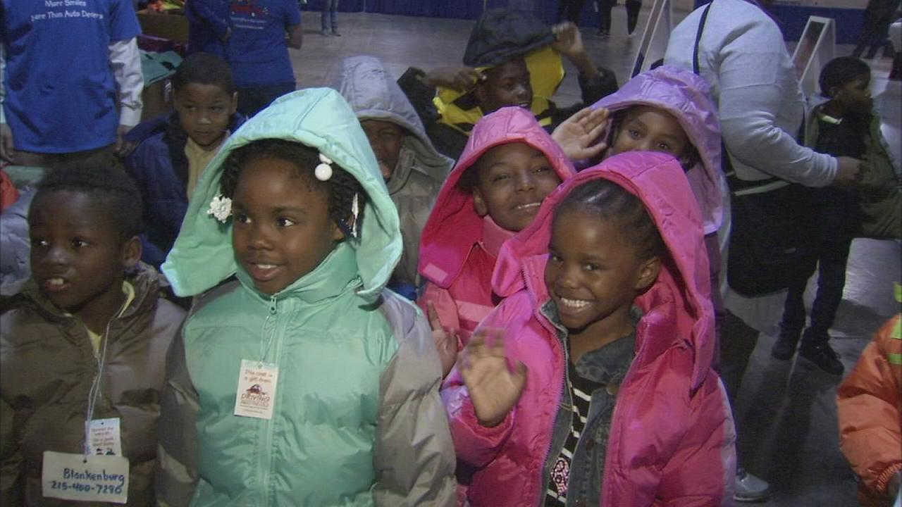 Car dealers donate winters coats to 1,400 Philly kids