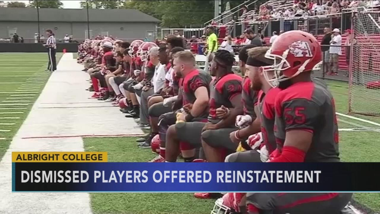 Albright College agrees to reinstate players cut from football team