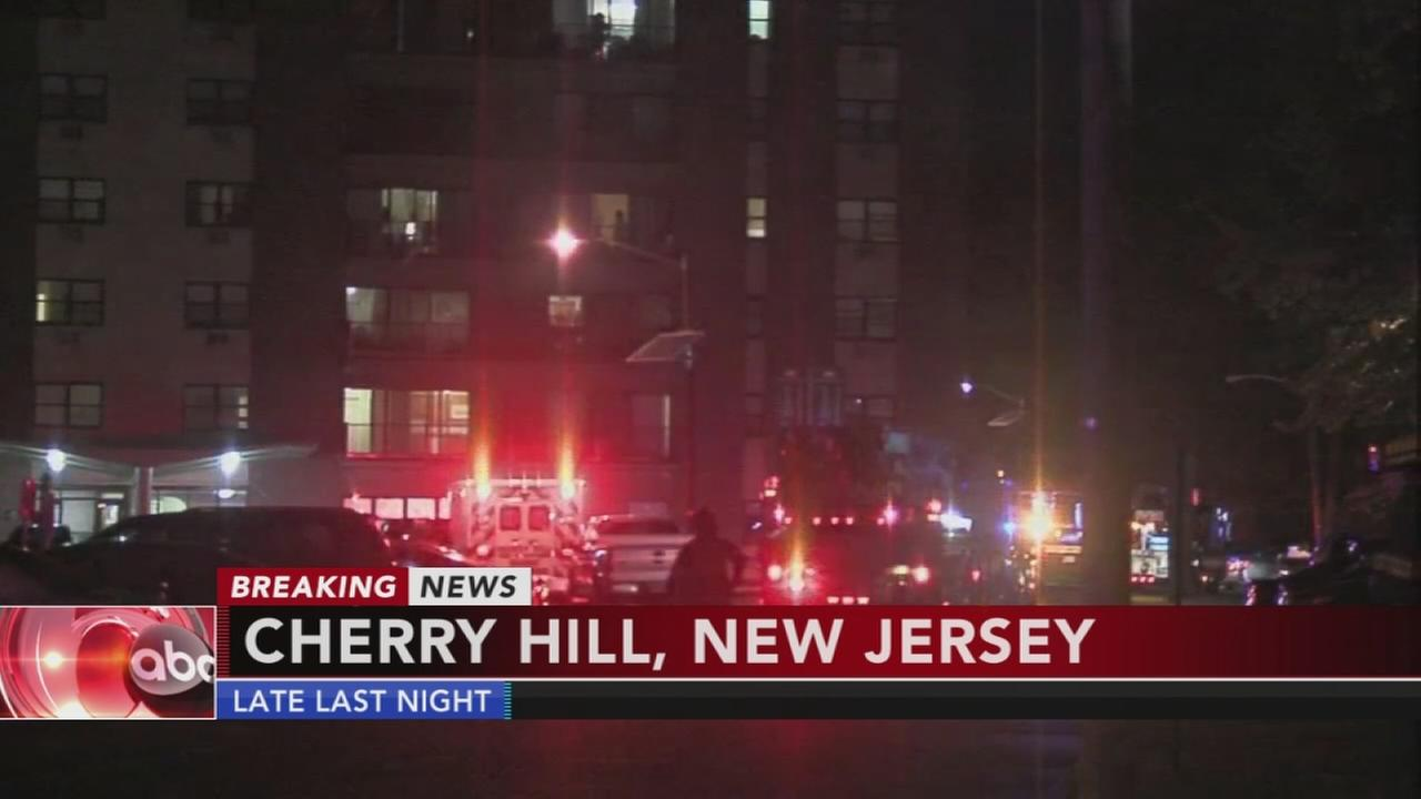 Multi-alarm fire in Cherry Hill apartment complex