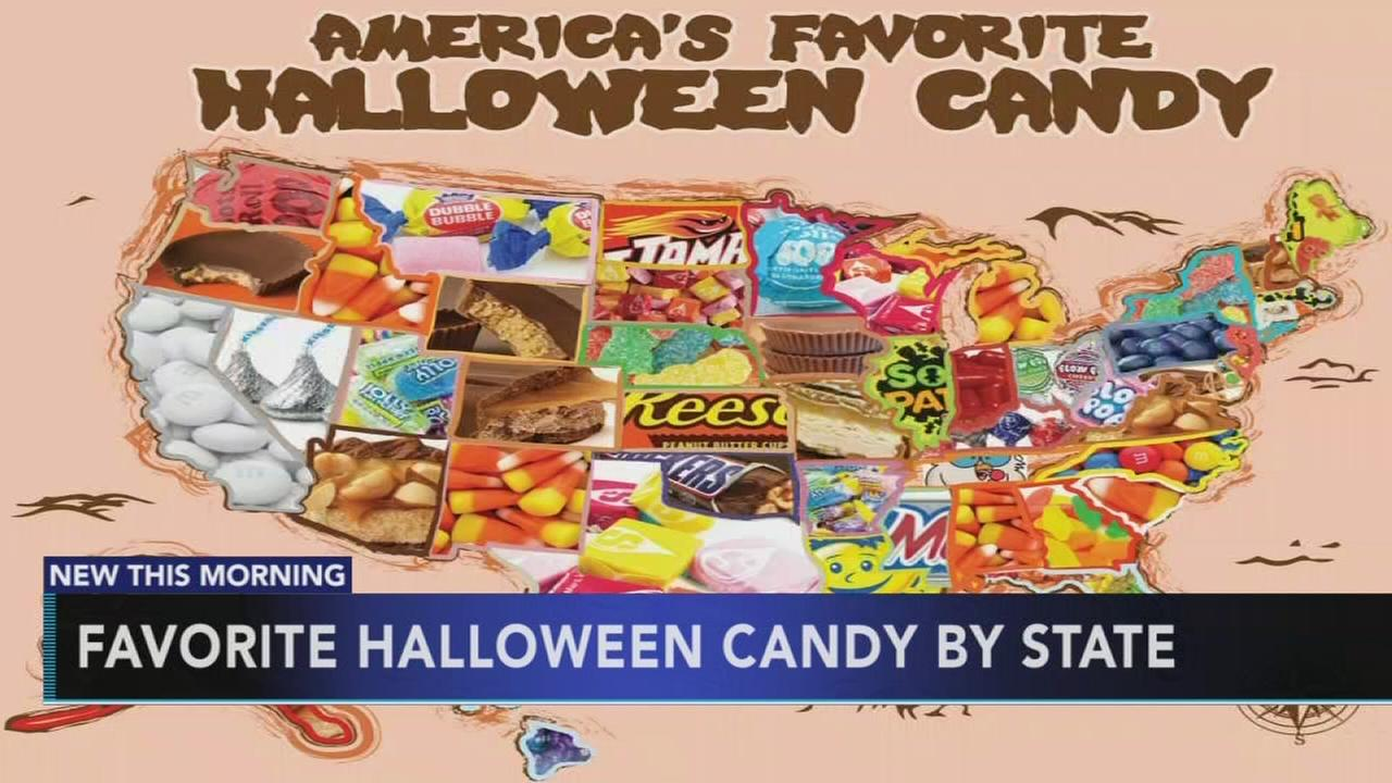 Favorite Halloween candy by state