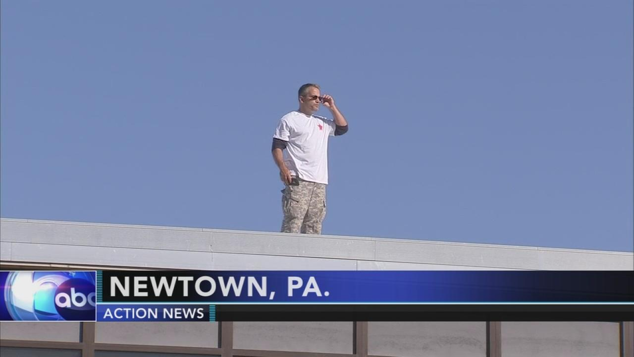 Bucks County principal fulfills bet, spends night on school roof