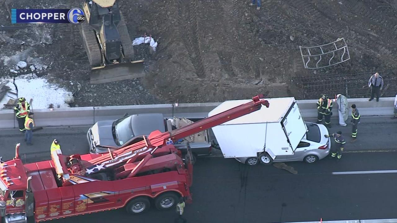 Crashes caused traffic jams on I-95 in Phila., Bucks Co.
