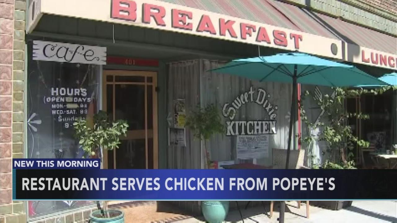 Restaurant serves chicken from Popeyes