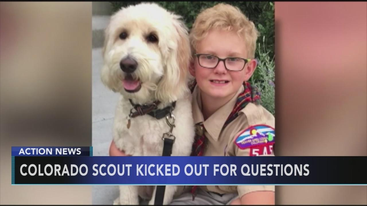 Colorado boy kicked out of scouts for questions