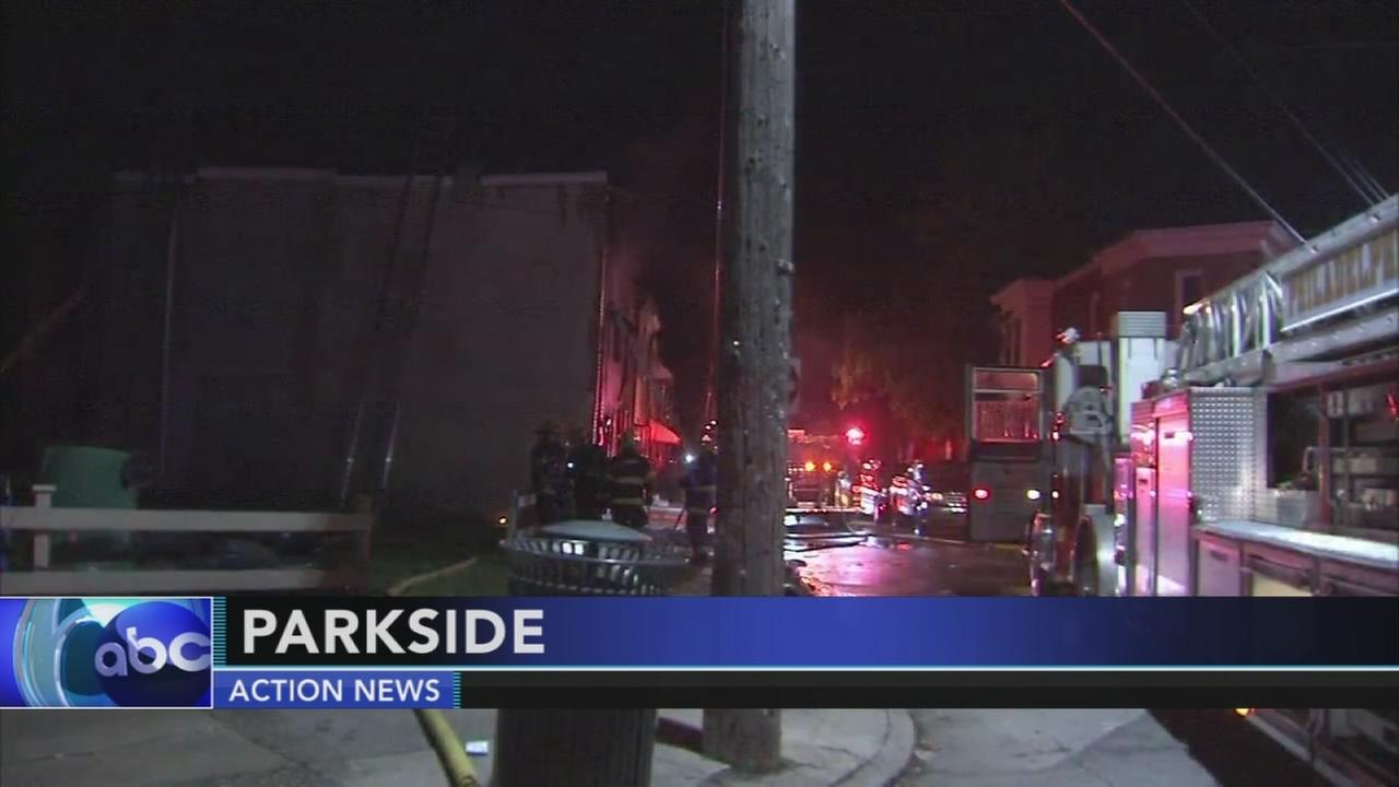 Firefighters battle fire in Parkside