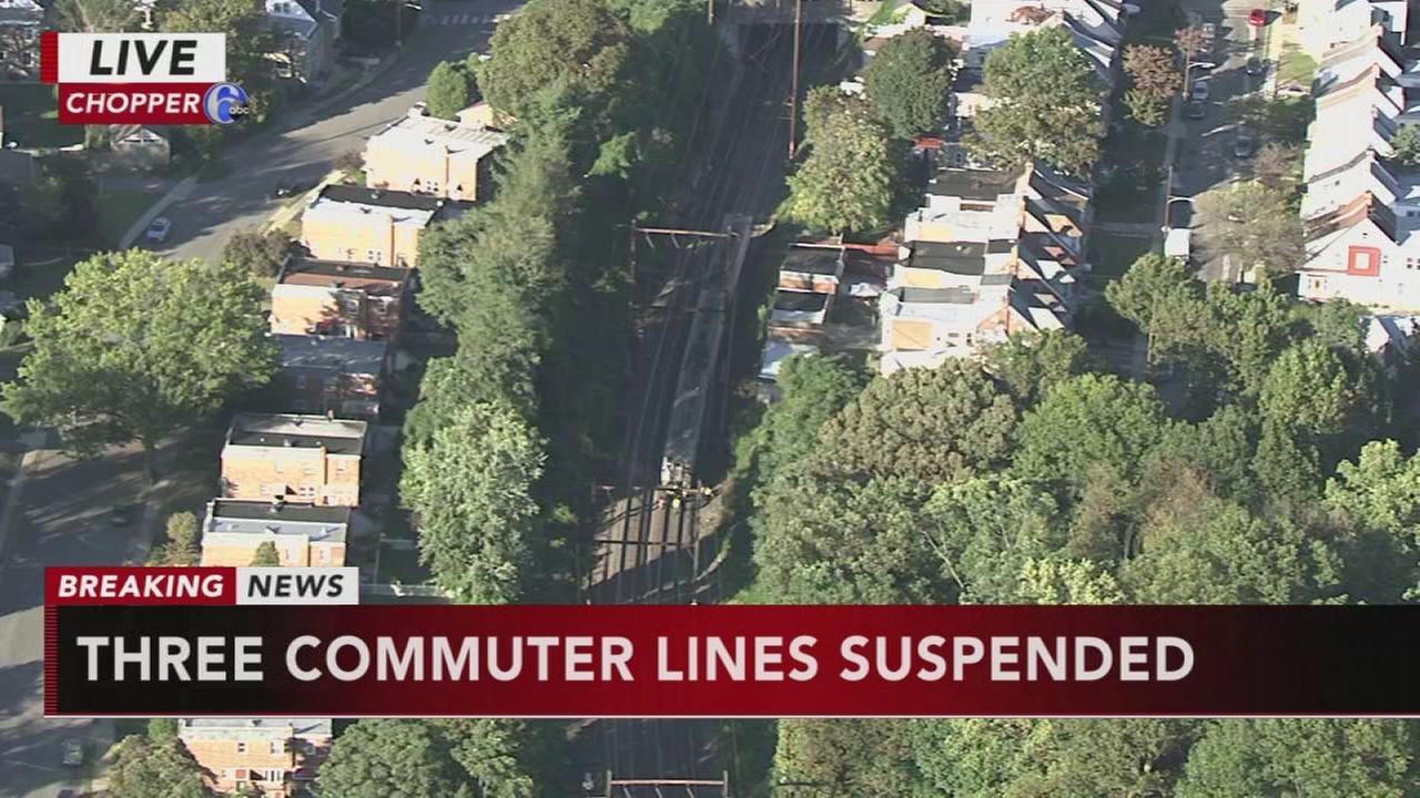 SEPTA: Pedestrian stuck, rail service suspended