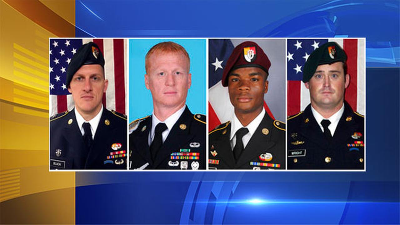 Four US soldiers killed in Niger