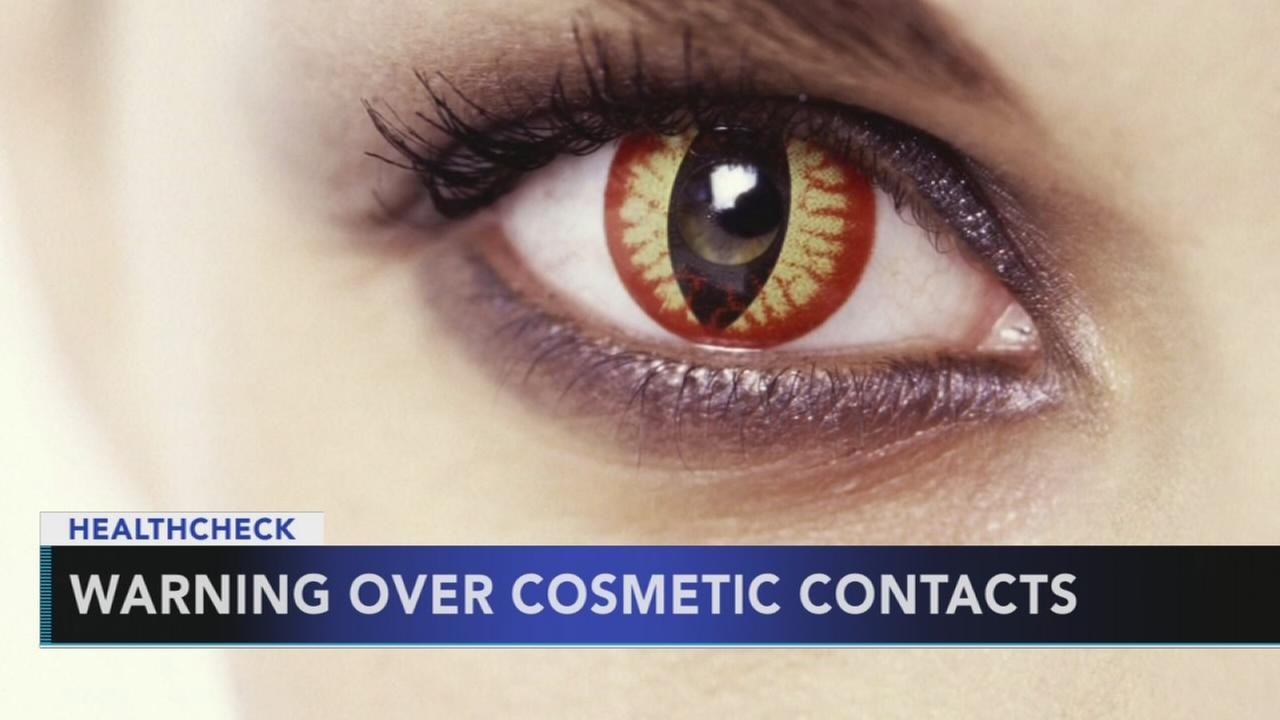 CDC warns about decorative Halloween contact lenses