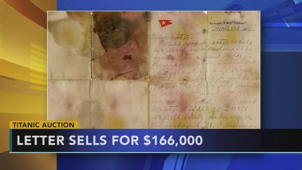 Titanic letter sells at auction