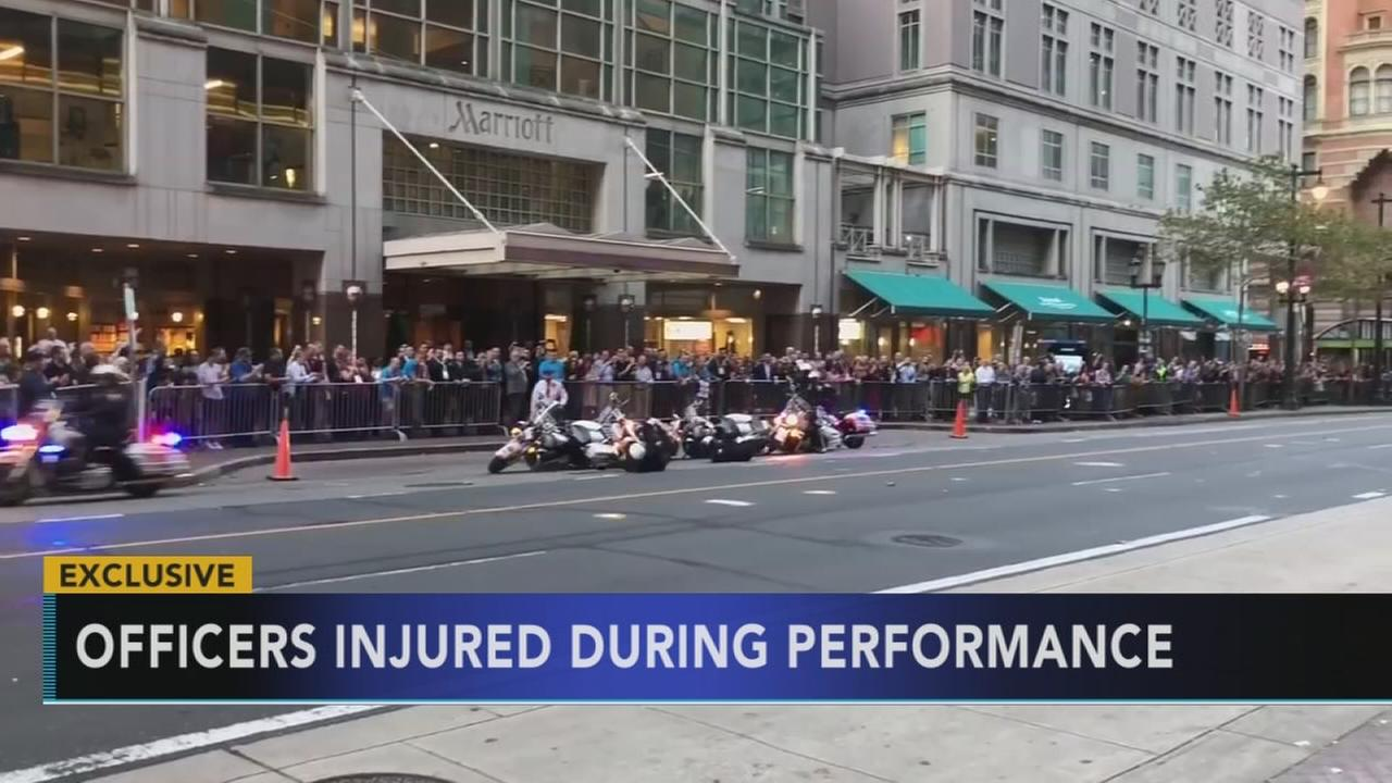 Officers injured during performance