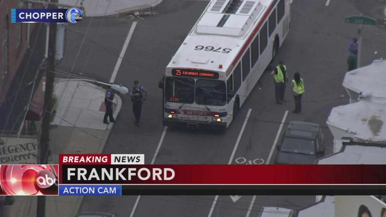 Girl hit by SEPTA bus in Frankford