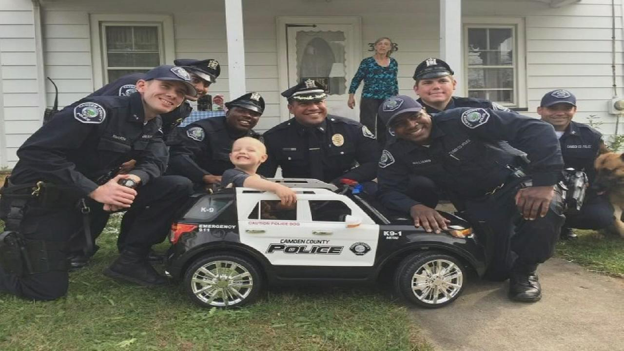 Camden Co. police purchase car for boy with cancer