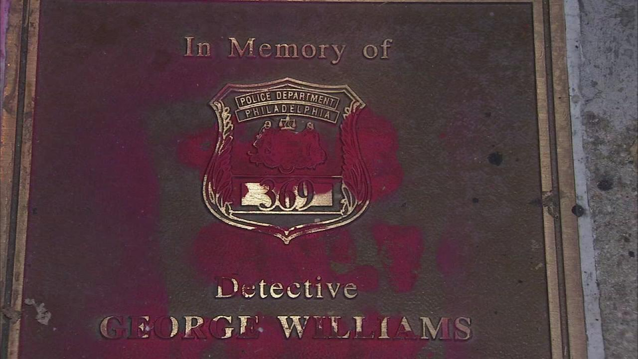 Plaque honoring slain Philadelphia officer vandalized