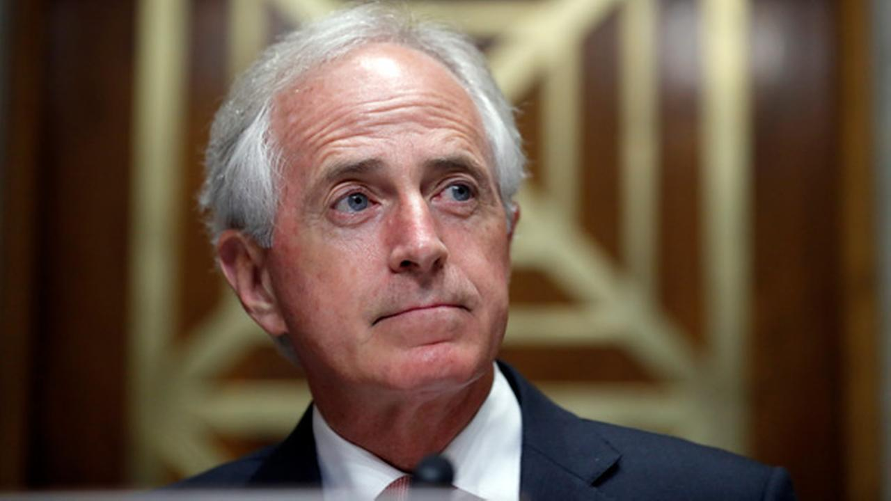 Chairman Bob Corker, R-Tenn., pauses before a hearing of the Senate Foreign Relations Committee.