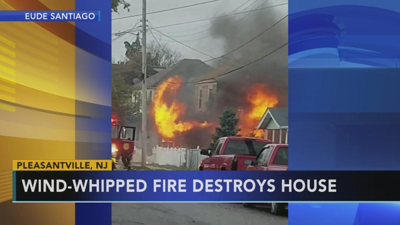 Father and son escape house fire in Pleasantville
