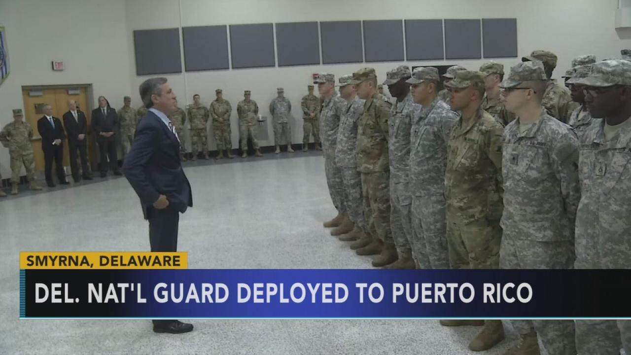 Members of Delaware National Guard deployed to Puerto Rico
