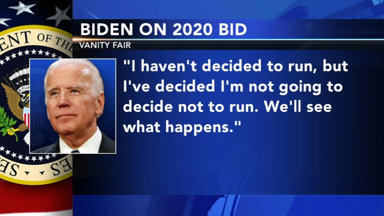 Biden on 2020: Im not going to decide not to run