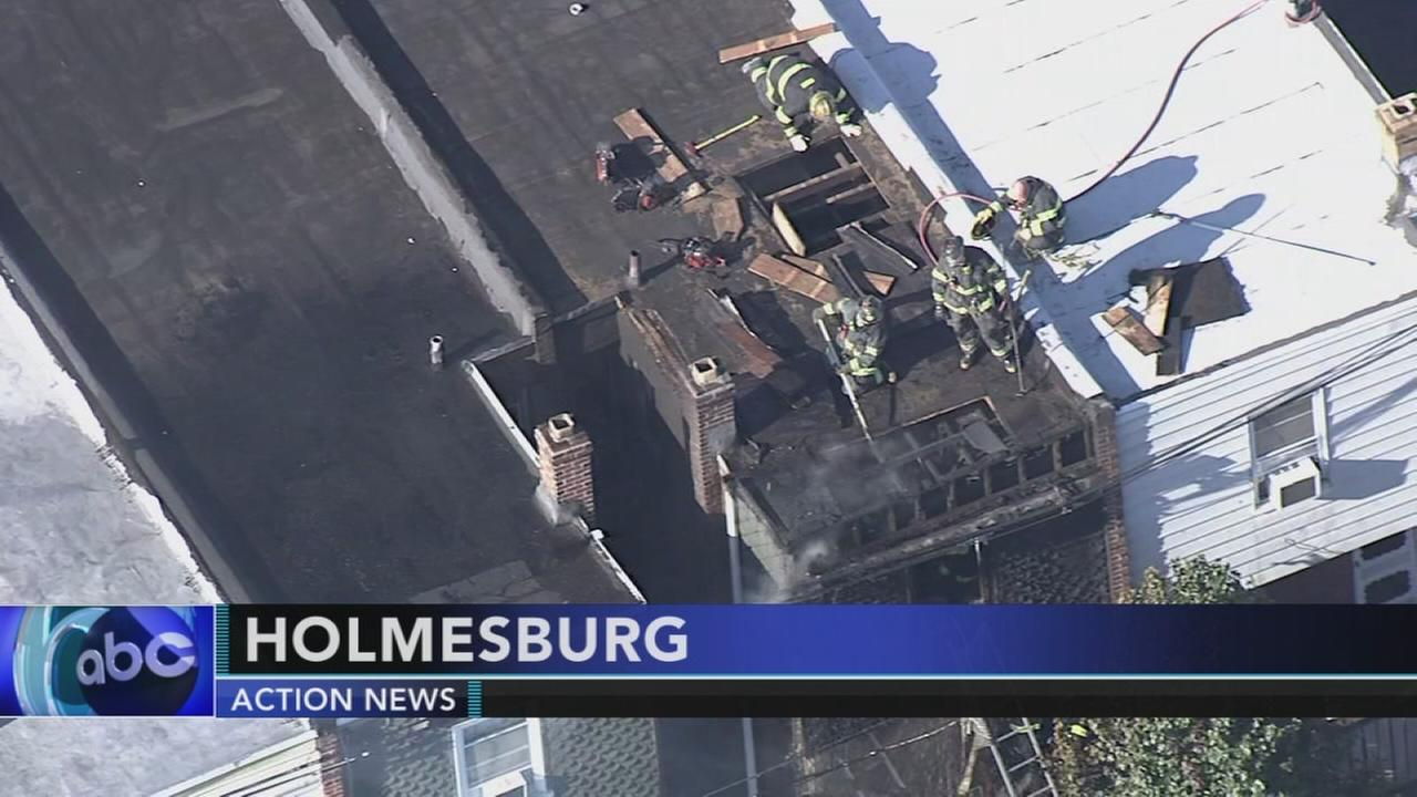 Woman hurt in house fire in Holmesburg