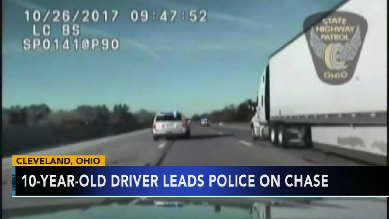 10-year-old leads Ohio police on high-speed chase