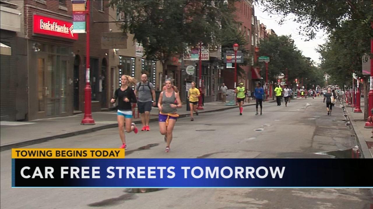 VIDEO: Car free streets in Philadelphia this weekend