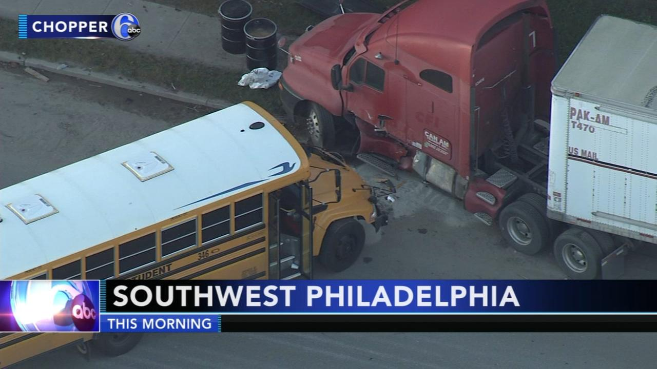 School bus involved in Southwest Philadelphia crash