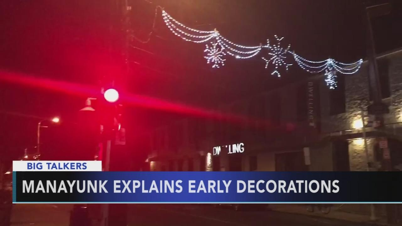 VIDEO: Manayunk decorations