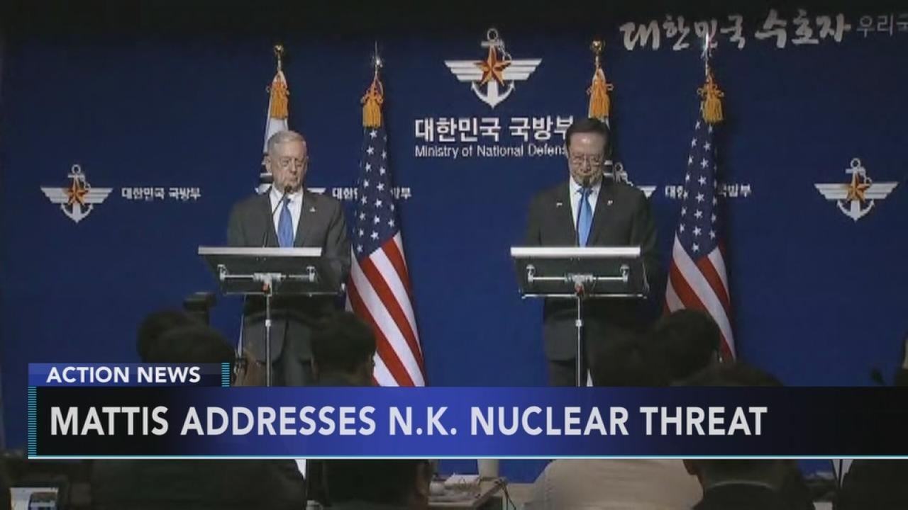 Defense Secretary Mattis addresses North Korea nuclear threat