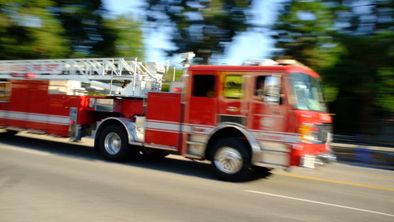 2 fire trucks collide on way to call; 8 firefighters injured