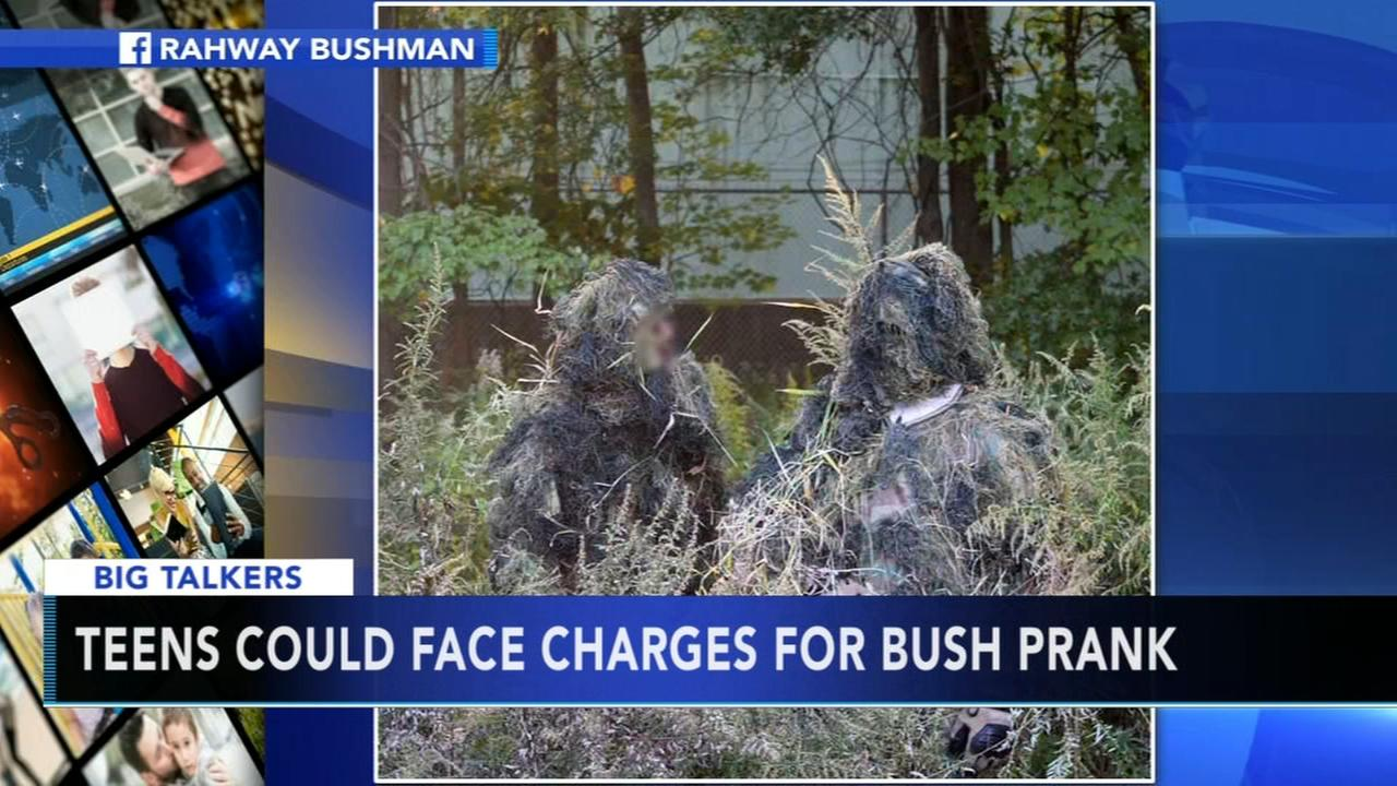 VIDEO: Teens could face charges for bush prank