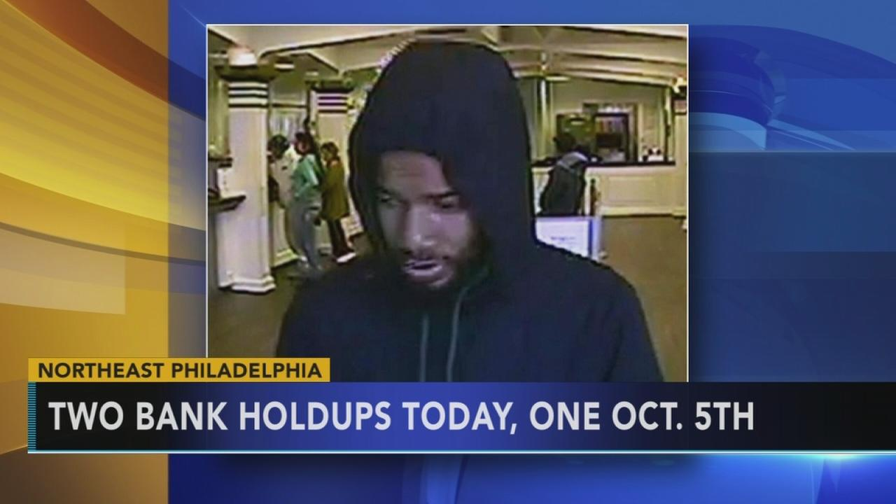 Police are searching for serial bank robber