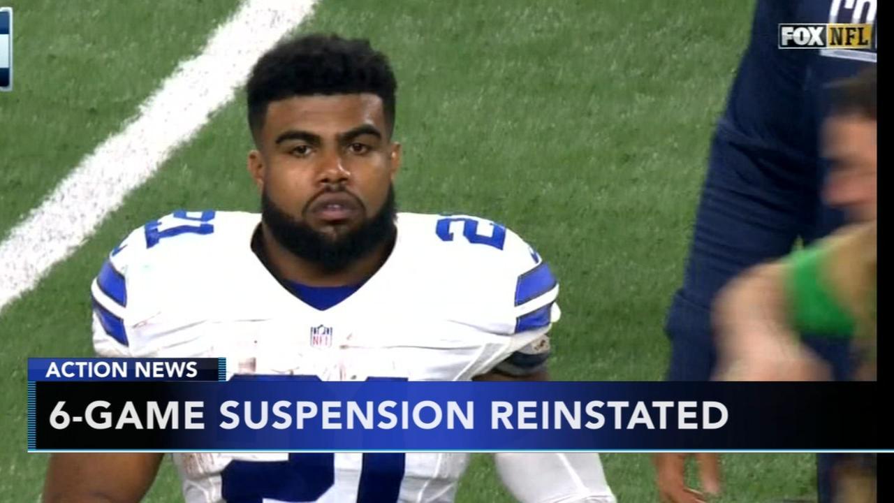 Judge reinstates 6-game suspension for Cowboys Elliott