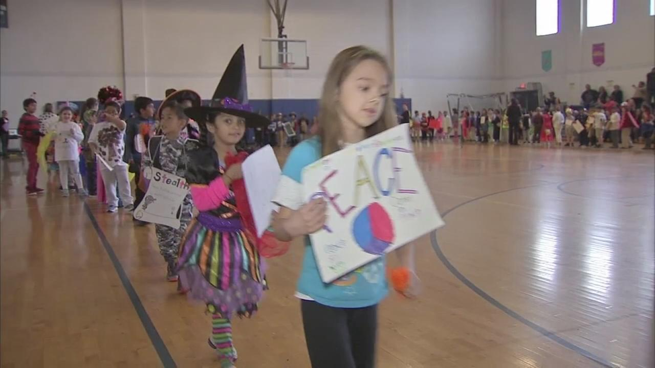 Local kids on parade for Halloween