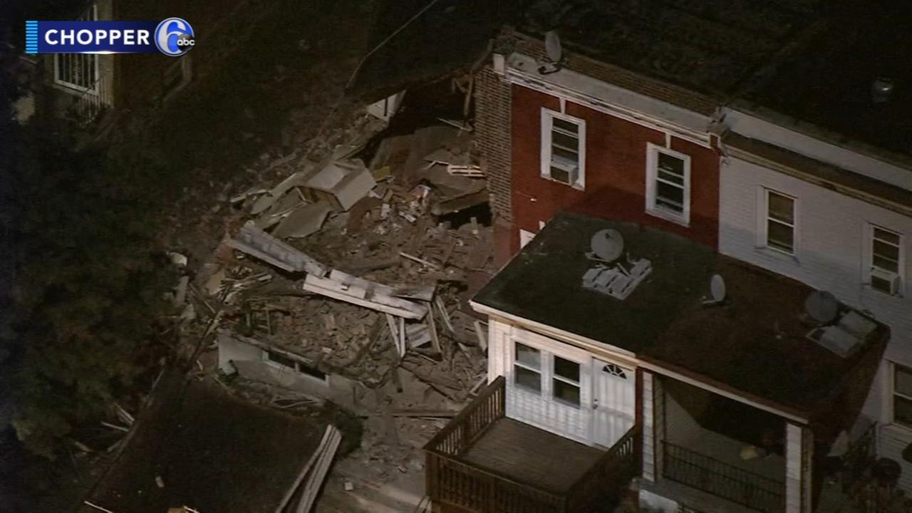 House collapses in Olney