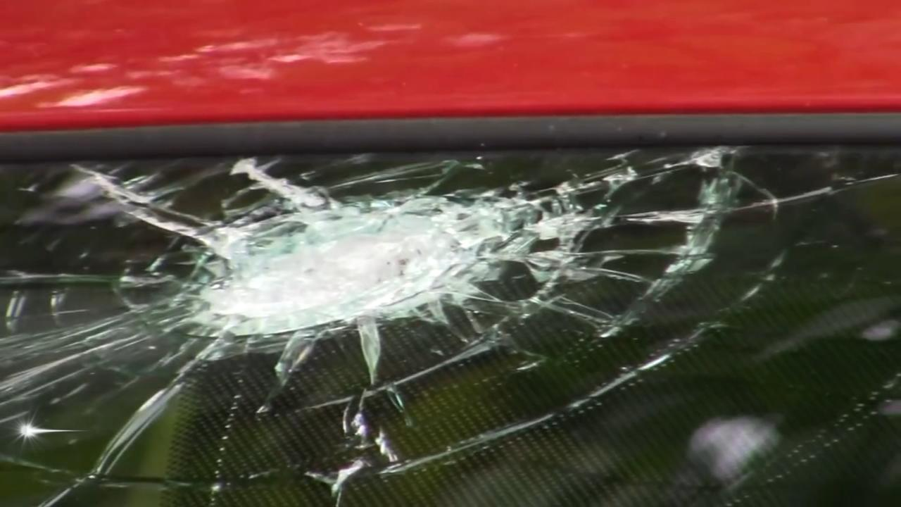 Several cars struck by rocks in Trenton