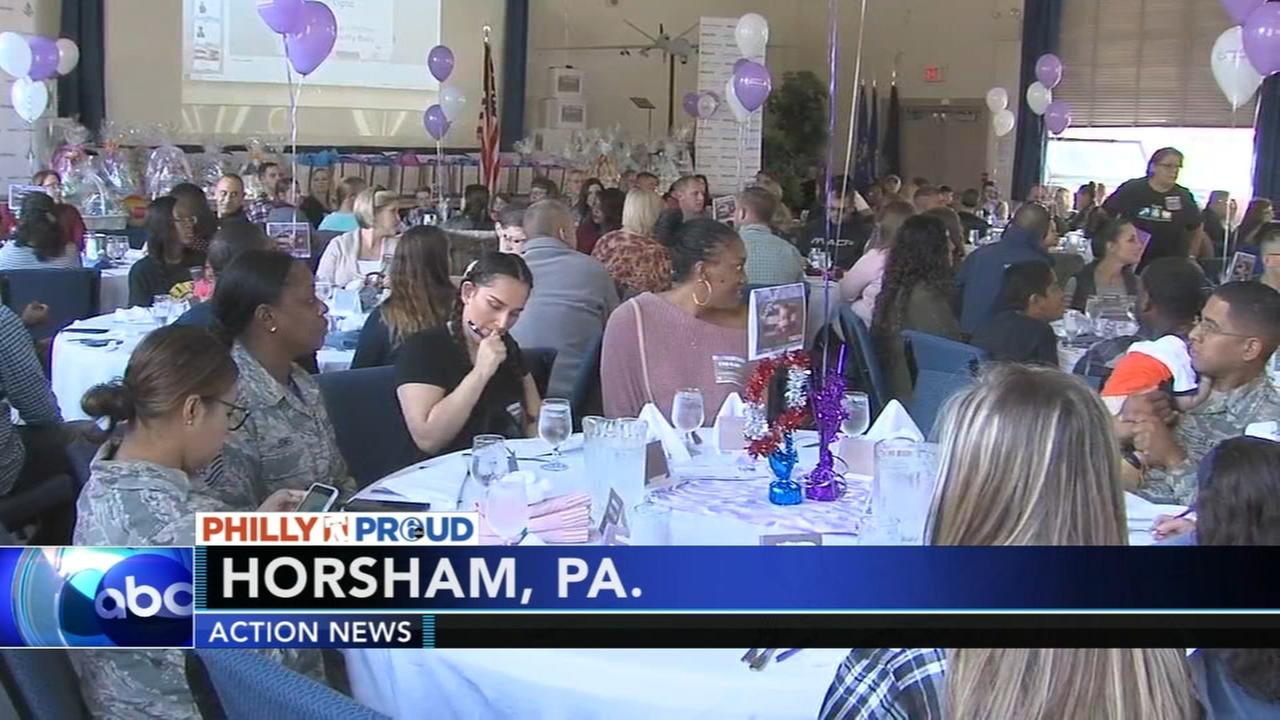 Military moms-to-be baby shower in Horsham