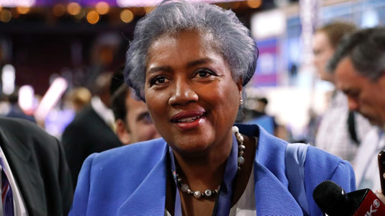 FILE - In this July 25, 2016 photo, Donna Brazile, interim chair of the Democratic National Committee, appears on the floor of the Democratic National Convention in Philadelphia.