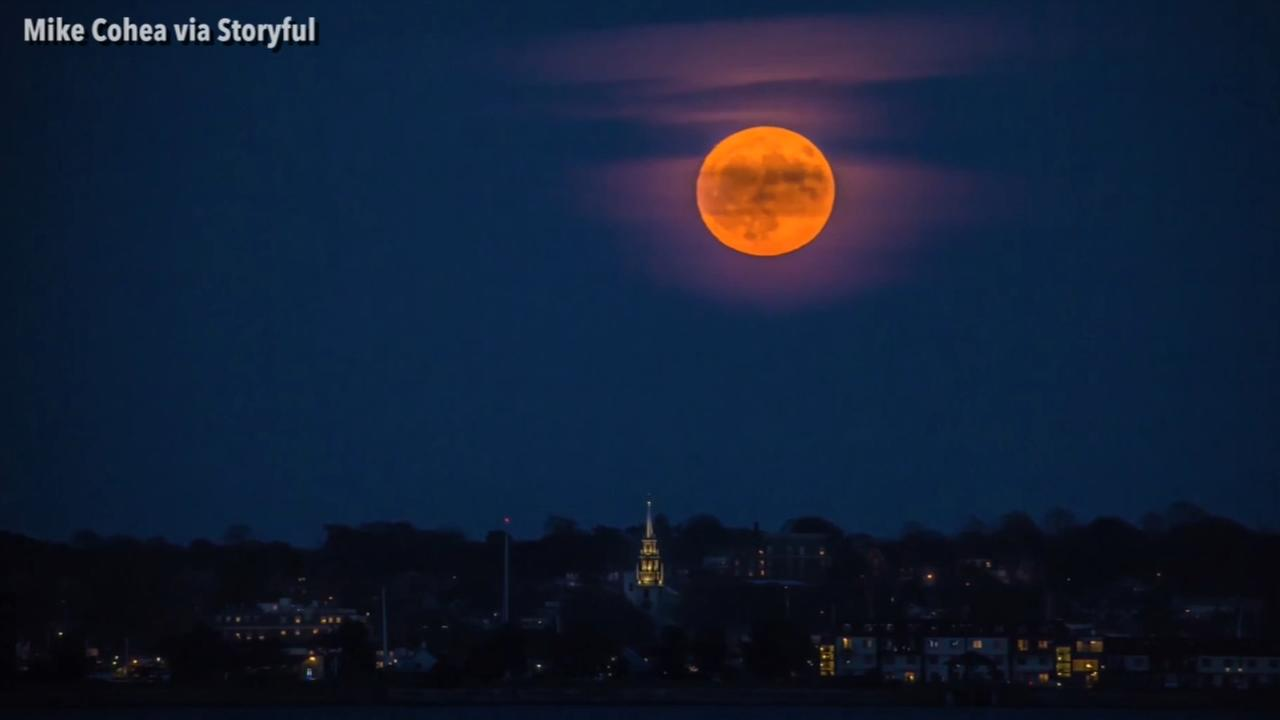 VIDEO: Rhode Island supermoon rises in beautiful timelapse
