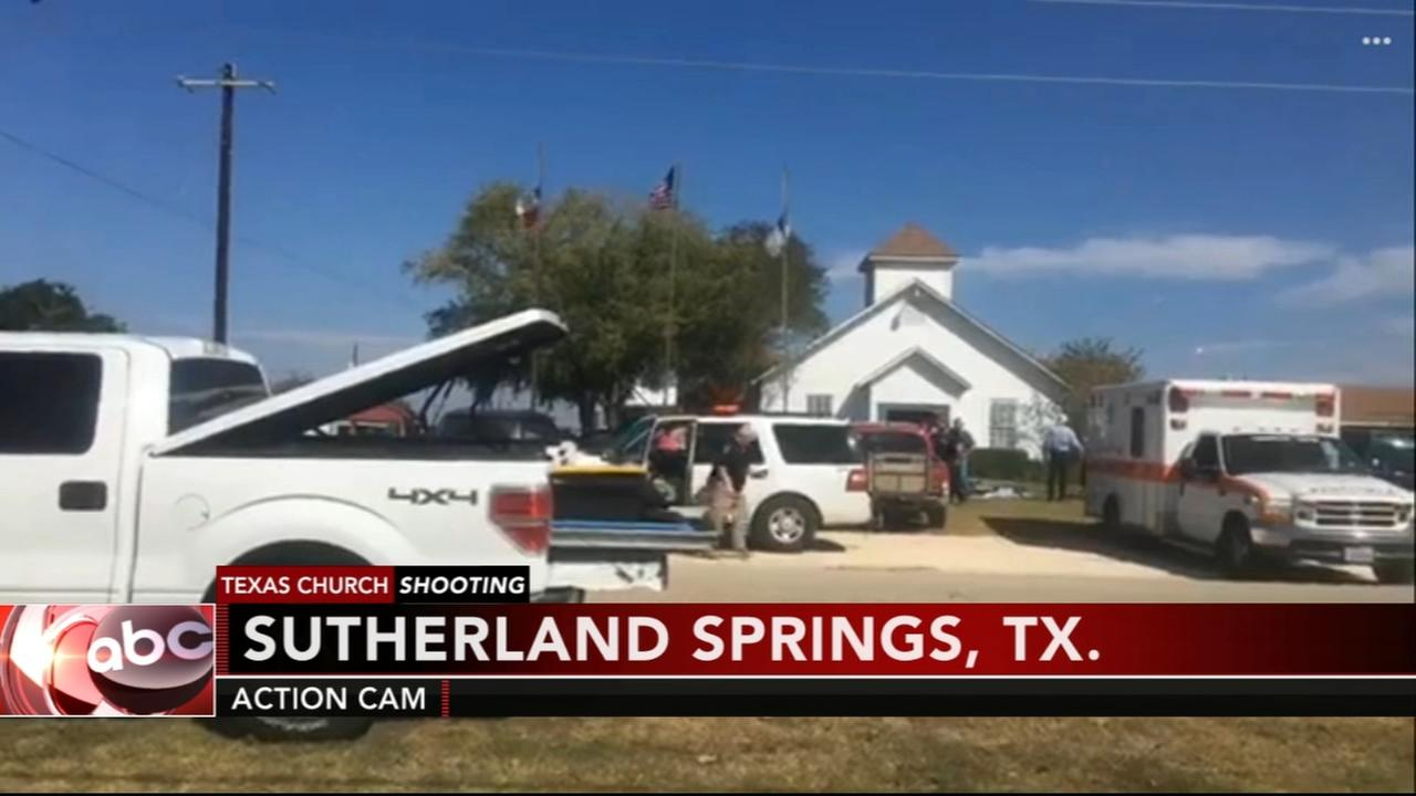 Courtney Fischer reports from the scene of the Texas church shooting