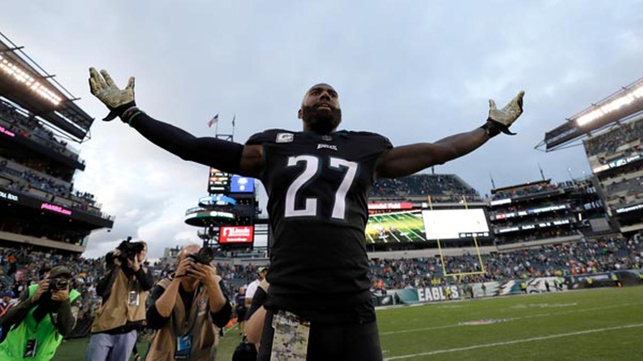 Philadelphia Eagles Malcolm Jenkins reacts after an NFL football game against the Denver Broncos, Sunday, Nov. 5, 2017, in Philadelphia.