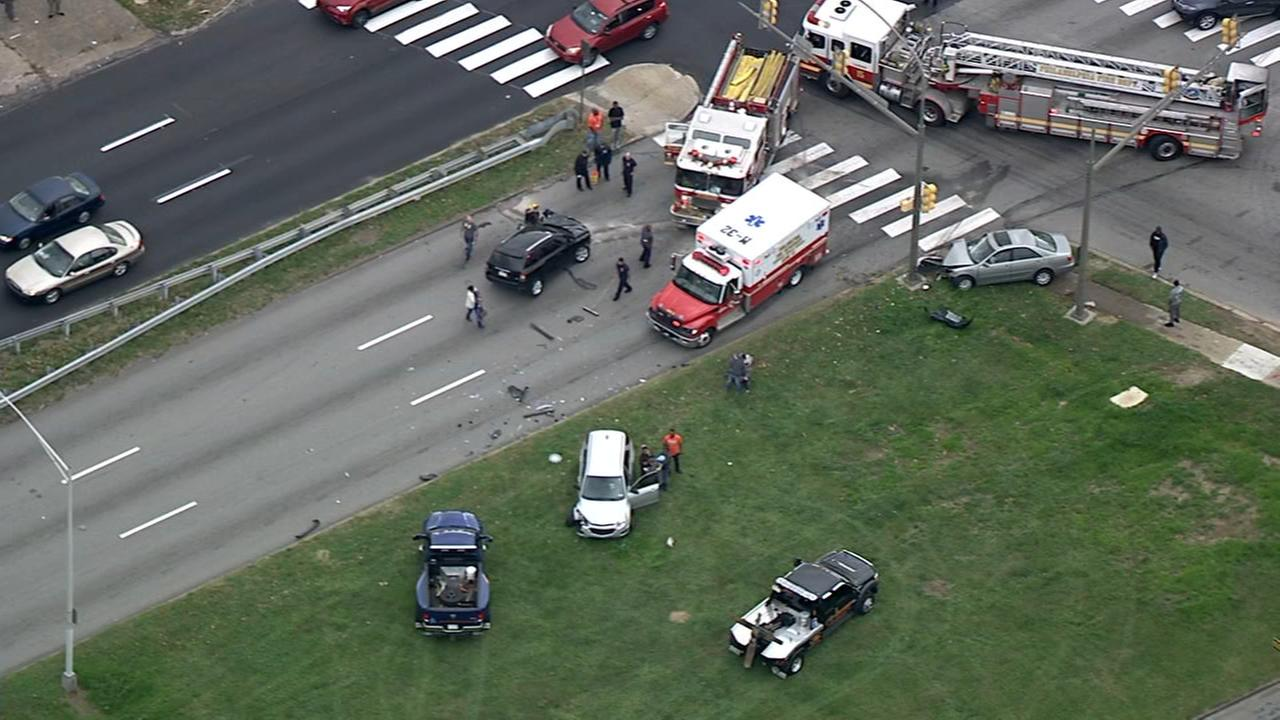 Roosevelt Blvd. crash involving multiple vehicles